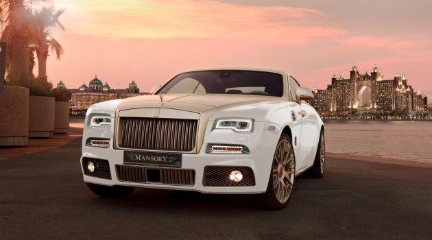 """Check Out Mansory's Gold-Plated Rolls-Royce Wraith """"Palm Edition 999"""""""