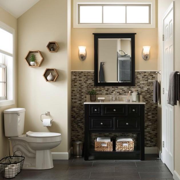 fancy bathroom