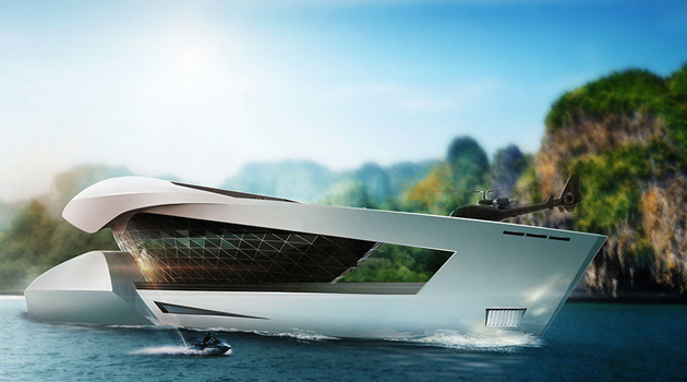 This Concept Superyacht Has A Showroom For Your Car Collection