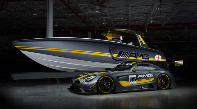 Mercedes-Benz Unveils AMG Cigarette Boat