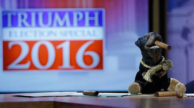 Triumph The Insult Comic Dog Takes On The 2016 Presidential Election