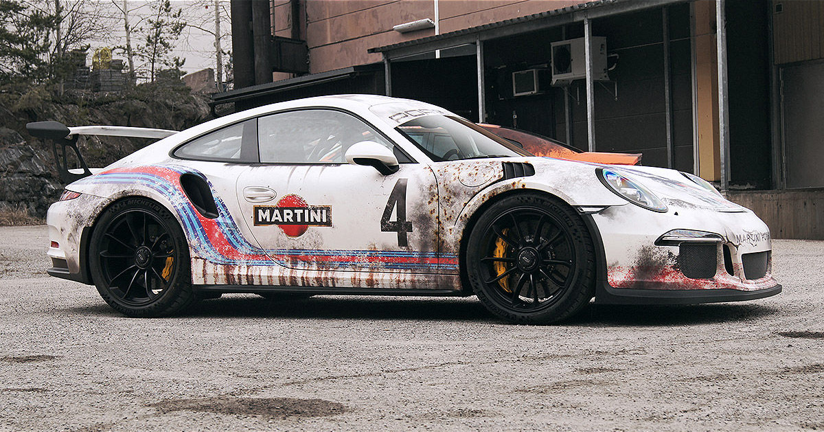 This Guy Wrapped His 175k Porsche Gt3 Rs To Look Like A
