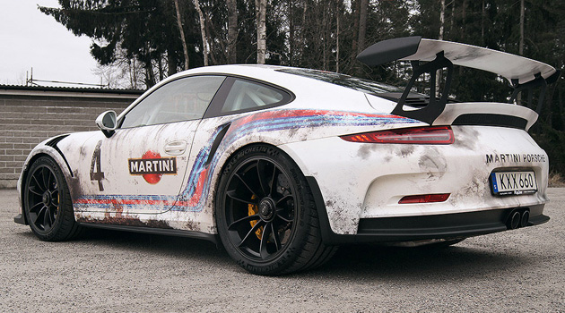 This Guy Wrapped His $175K Porsche GT3 RS To Look Like A Barn Find