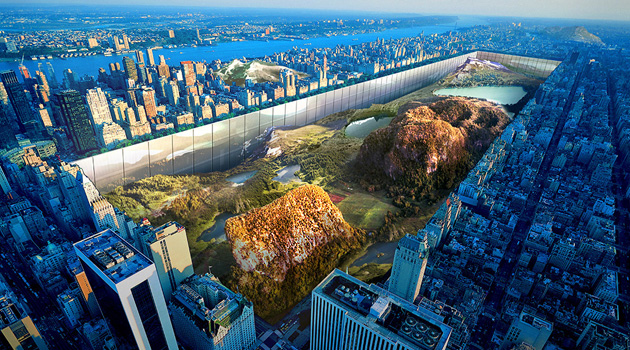 What If Central Park Was Surrounded By 1,000-Foot Glass Walls?