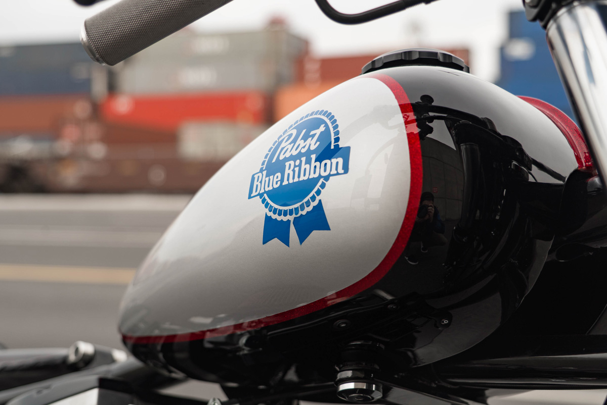 e1c5e1ec5b Pabst Blue Ribbon Custom Motorcycle To Be Auctioned Off For Charity