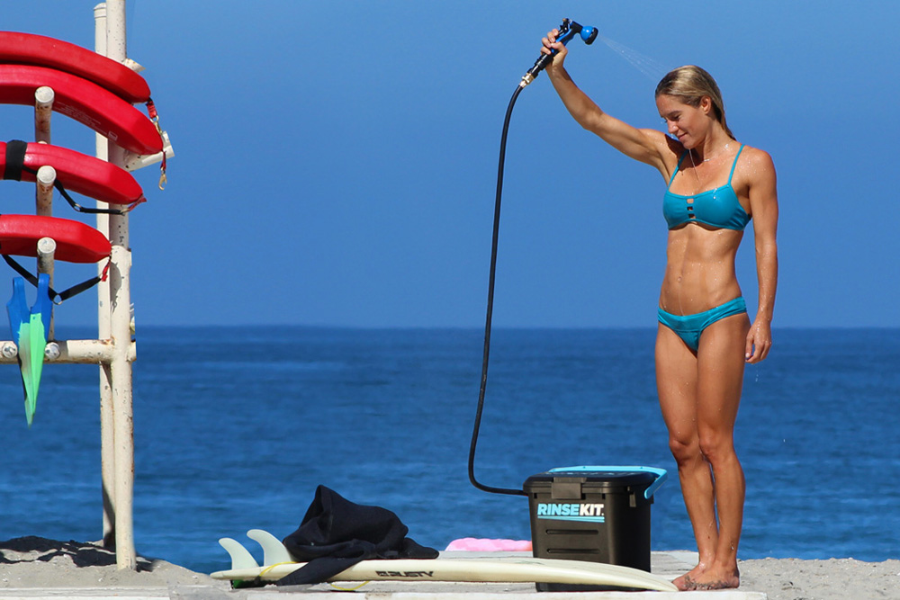 RinseKit: A Portable Shower Sprayer For The Beach, Camping, Or ...