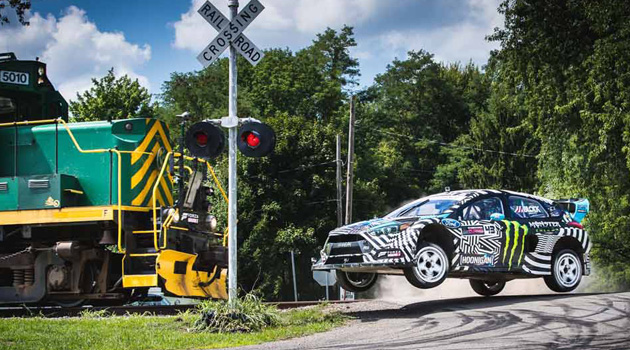 Watch As Ken Block Tears Up An Industrial Park In Gymkhana NINE