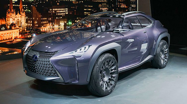 futuristic lexus ux concept debuts at paris motor show. Black Bedroom Furniture Sets. Home Design Ideas