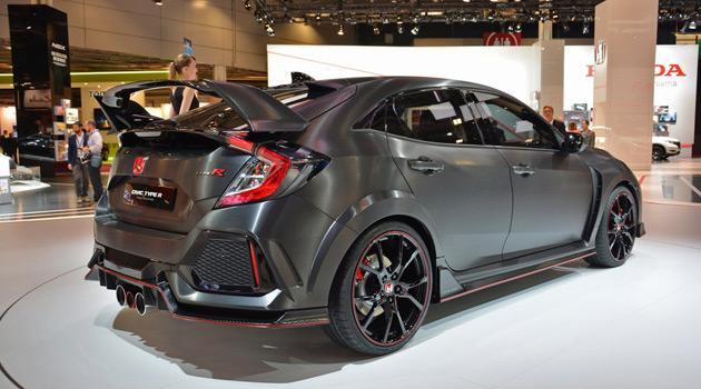 Honda Civic Type R Prototype Makes Its Debut At Paris Motor Show