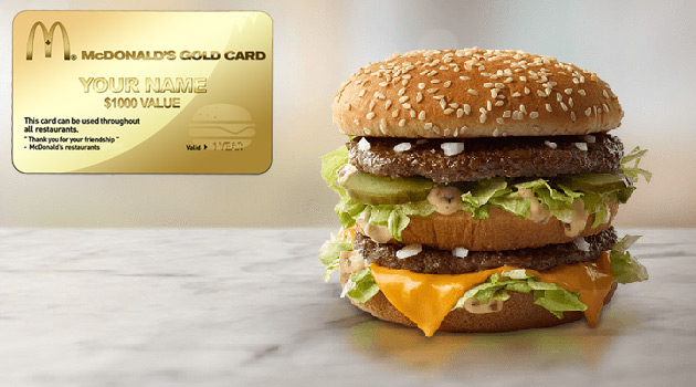 McDonald's McGold Card