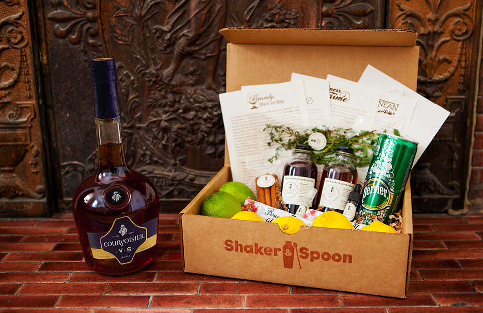 Shaker & Spoon x Courvoisier box
