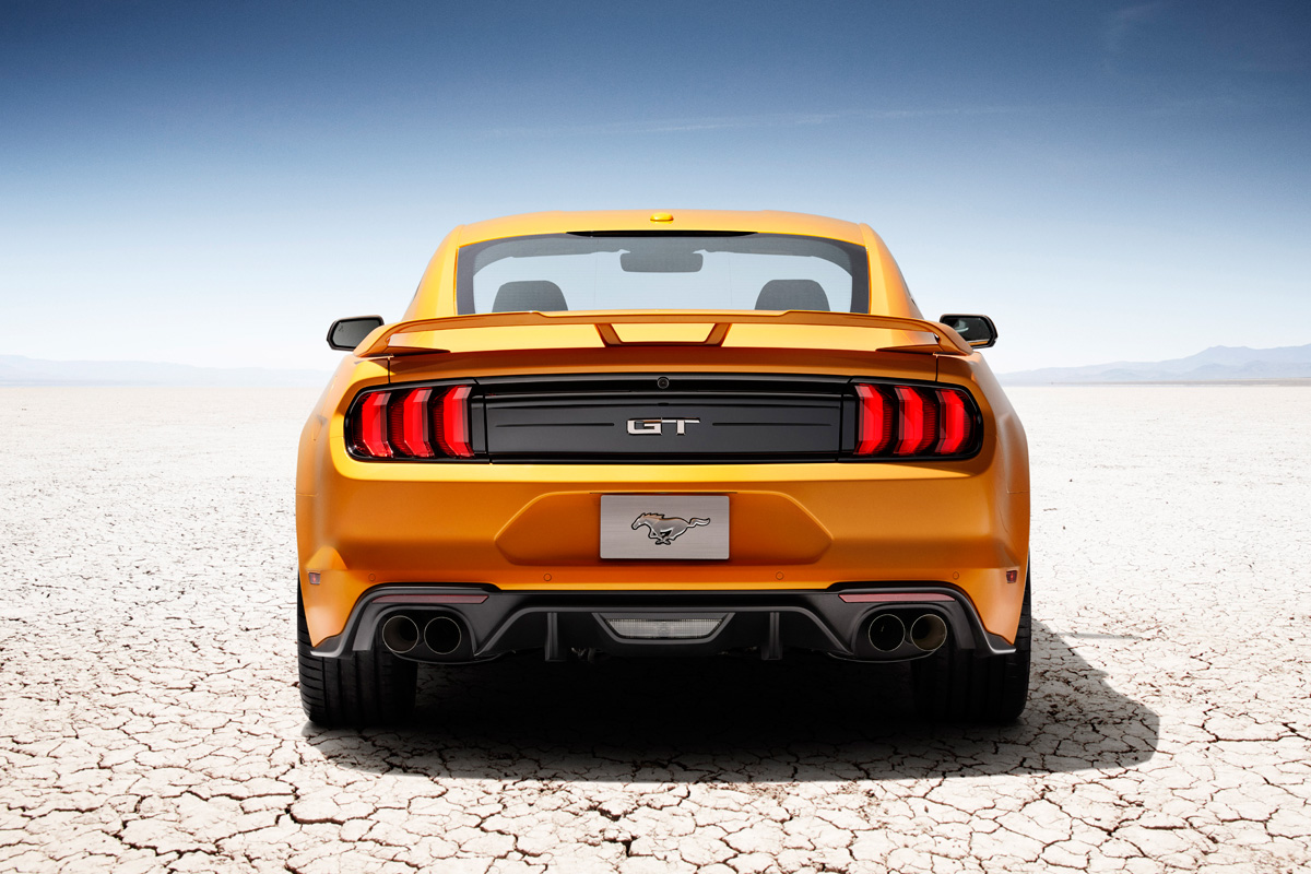 2018 Ford Mustang GT in Orange Fury