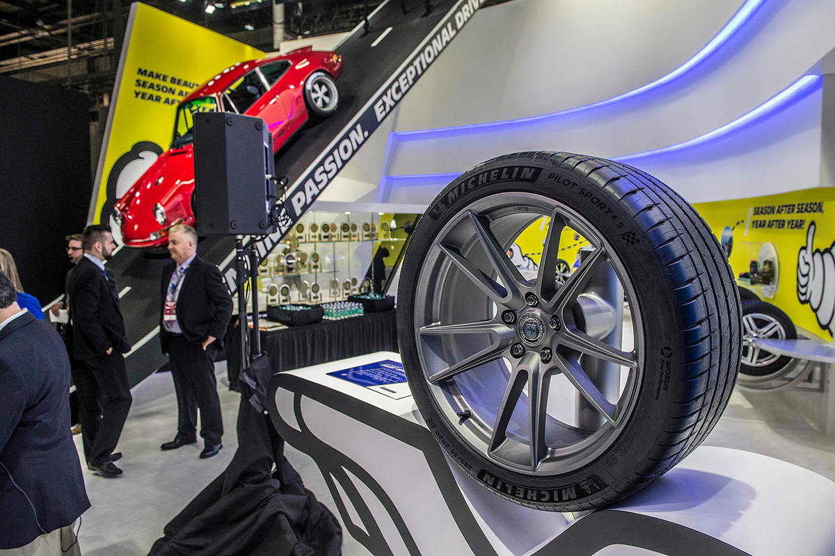 Michelin Pilot Sport 4S on display at NAIAS