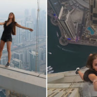 Watch This Russian Model Hang Off The Side Of A 1,000ft Skyscraper
