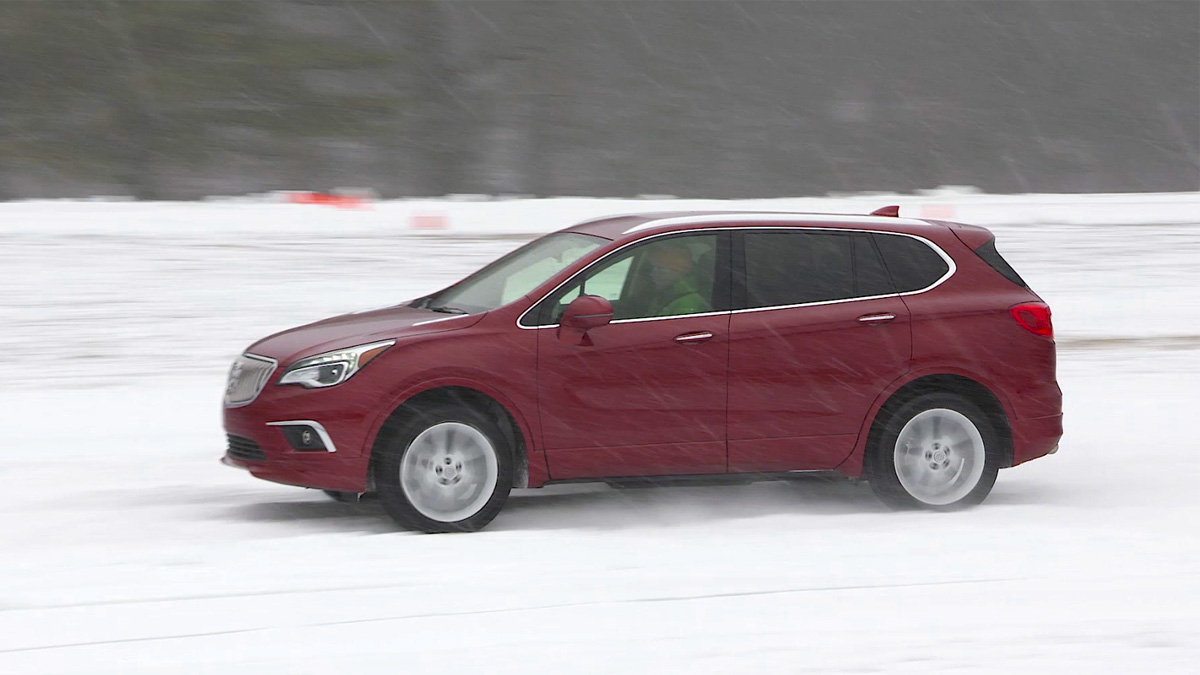 2017 Buick Envision in the snow