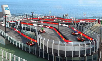 Norwegian Cruise Lines features Ferrari go-kart track on latest ship