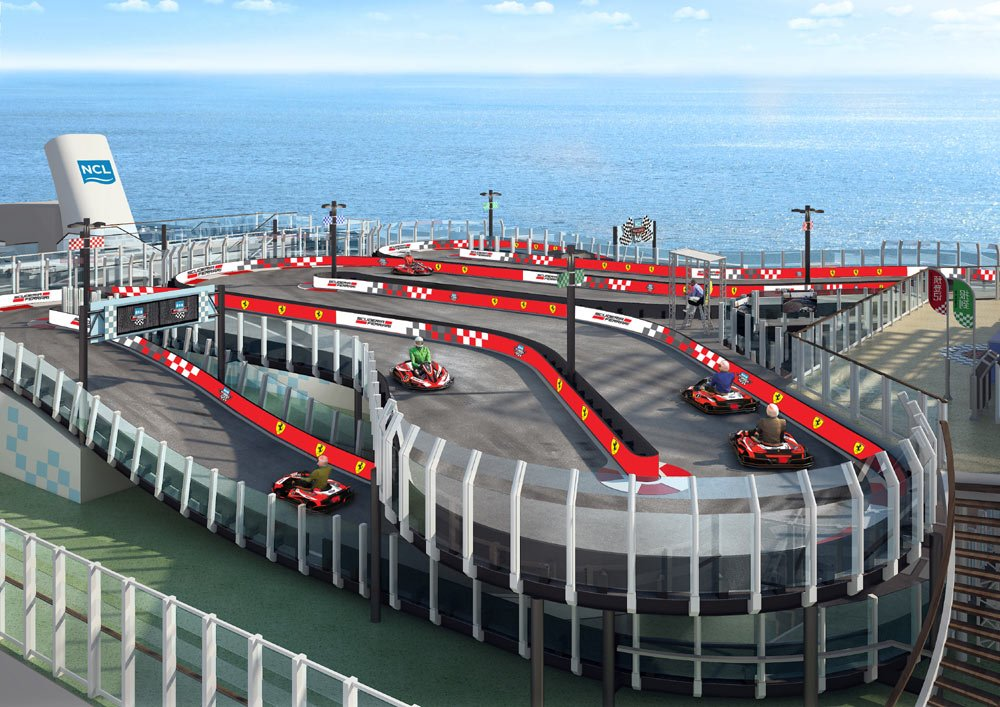 Norwegian Joy Ferrari Racetrack