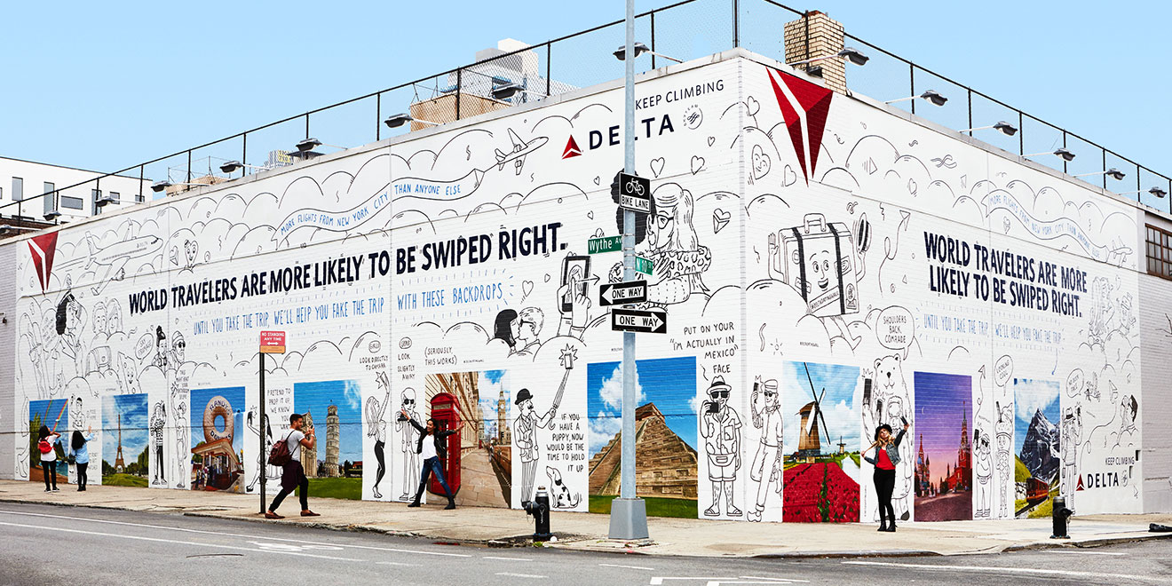 Delta Dating Wall in Brooklyn