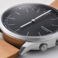 The Skagen Jorn Connected Leather Hybrid Smartwatch