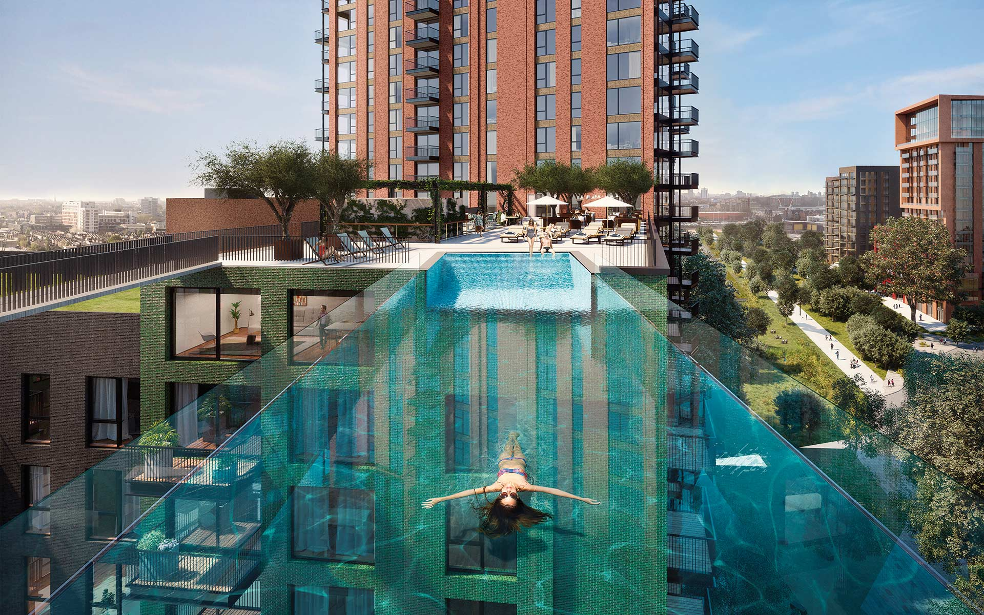 Embassy Gardens sky pool