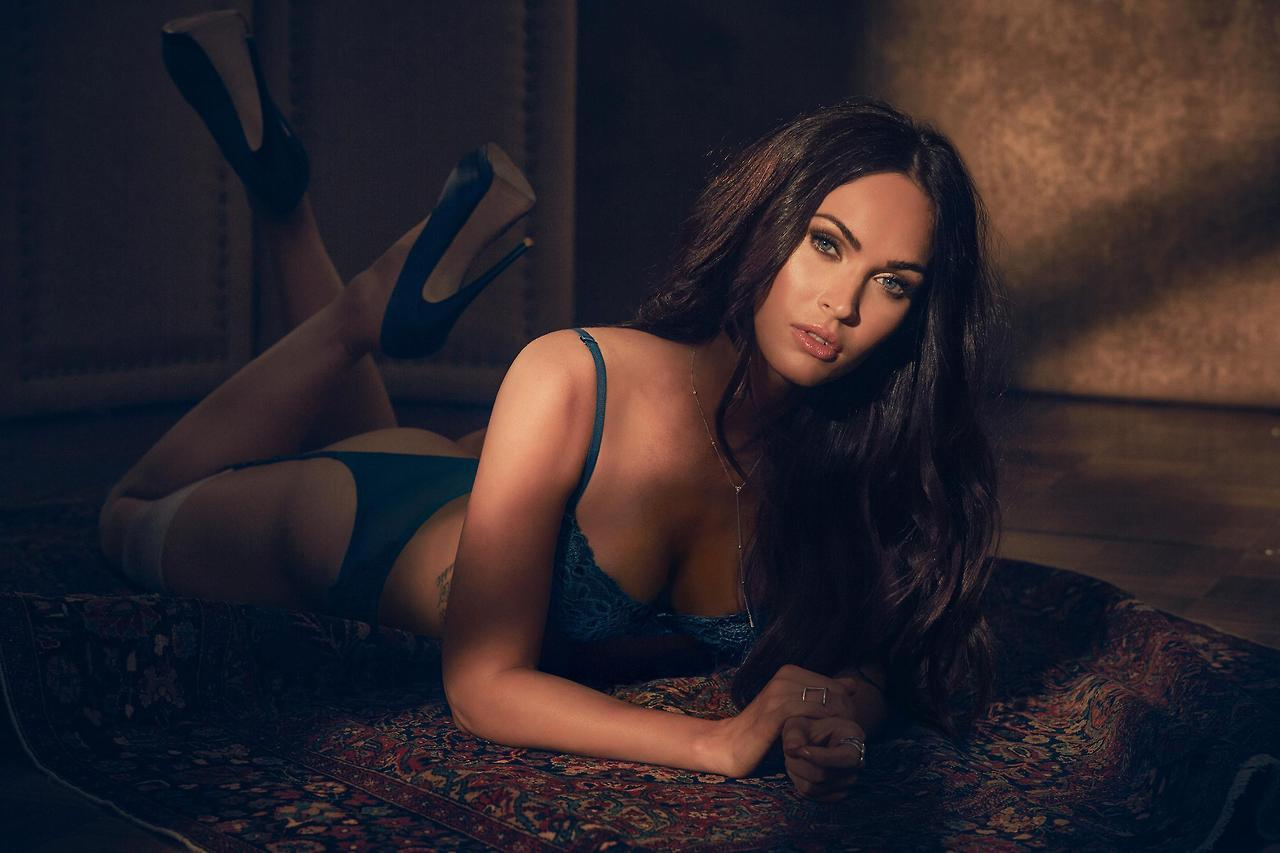 aa8353633 Megan Fox Brings The Heat In Frederick s Of Hollywood Lingerie Campaign