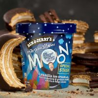 Jimmy Fallon Introduces New Ben & Jerry's Flavor, Marshmallow Moon