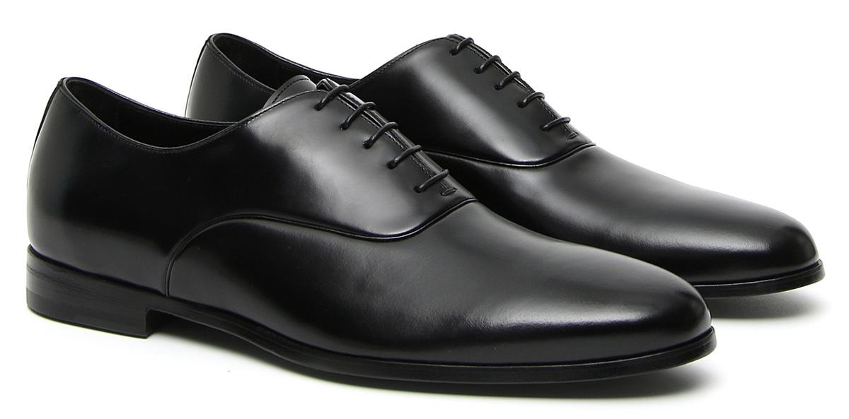 Black calfskin Oxford shoes
