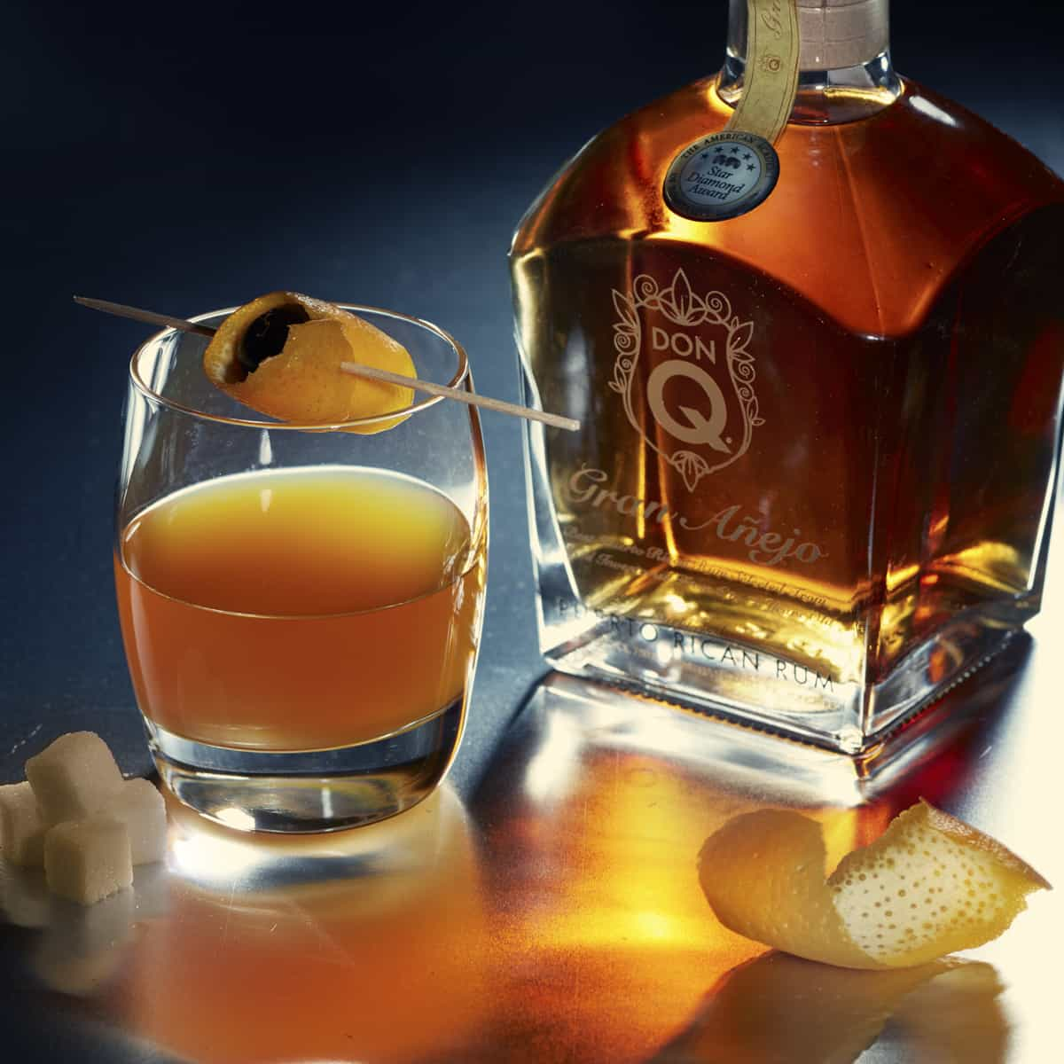 Don Q Gran Anejo Old Fashioned