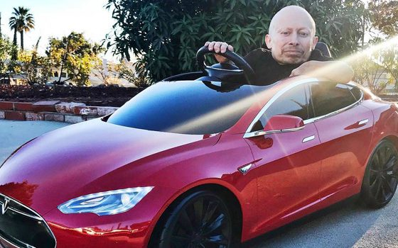 Verne Troyer's Tesla Model S
