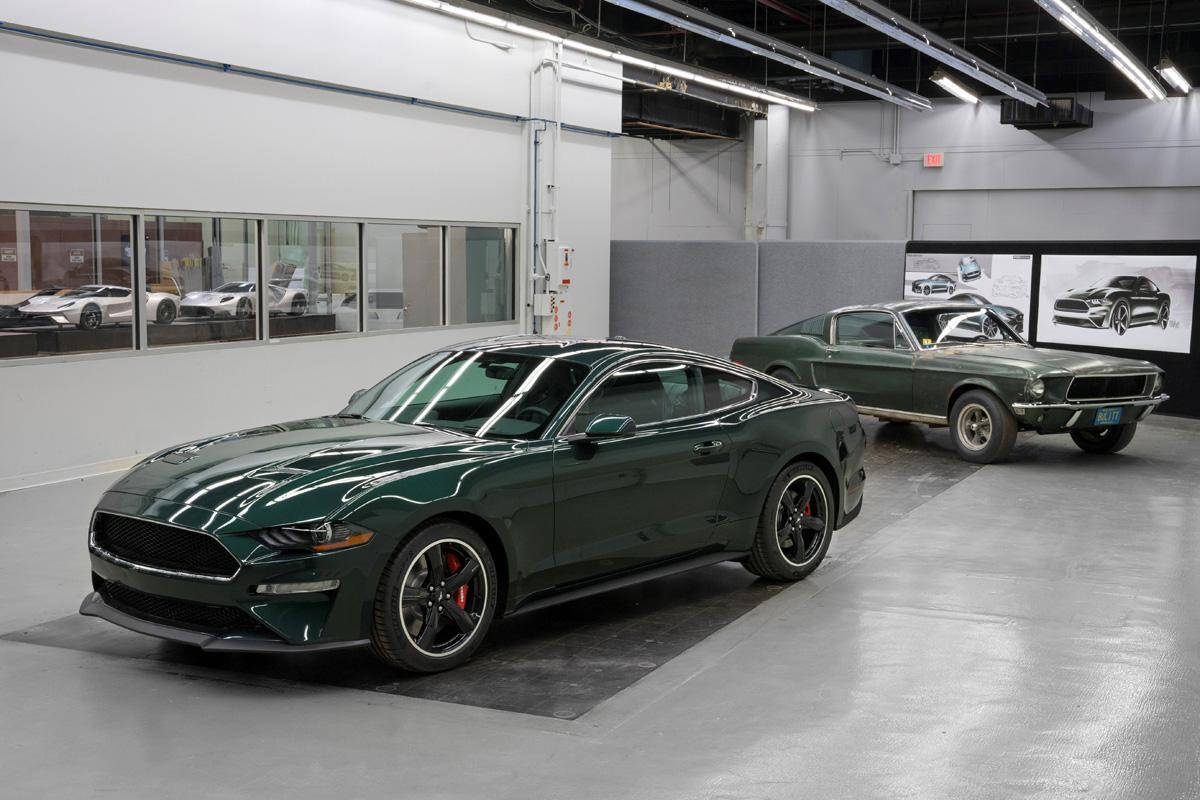2019 Ford Mustang Bullitt with 1968 Mustang Bullitt