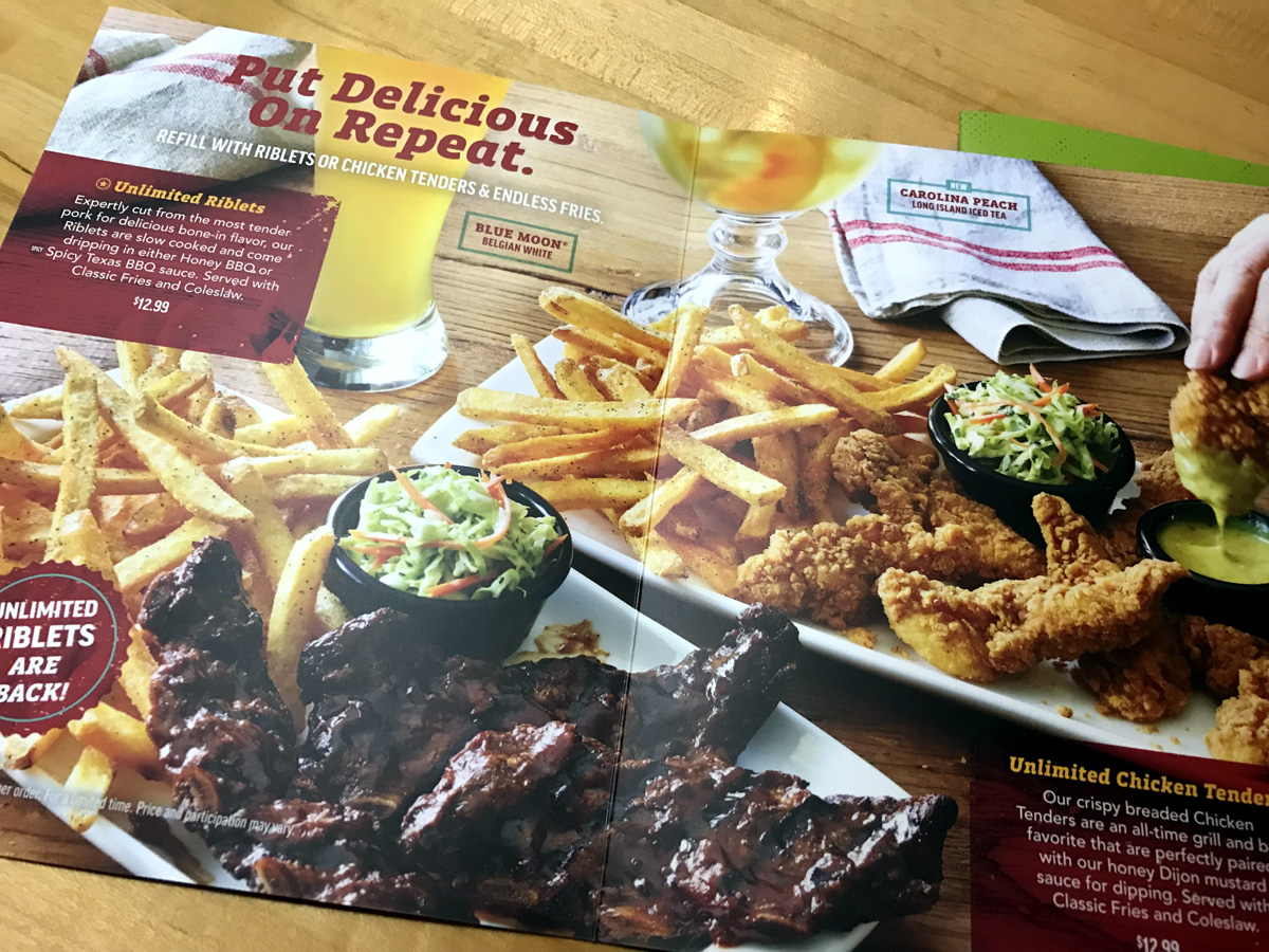Applebee's All-You-Can-Eat Menu