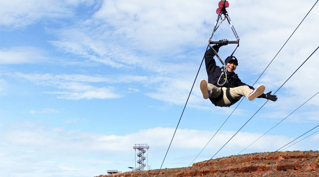 Who's Brave Enough To Go Zip Lining Across The Grand Canyon?