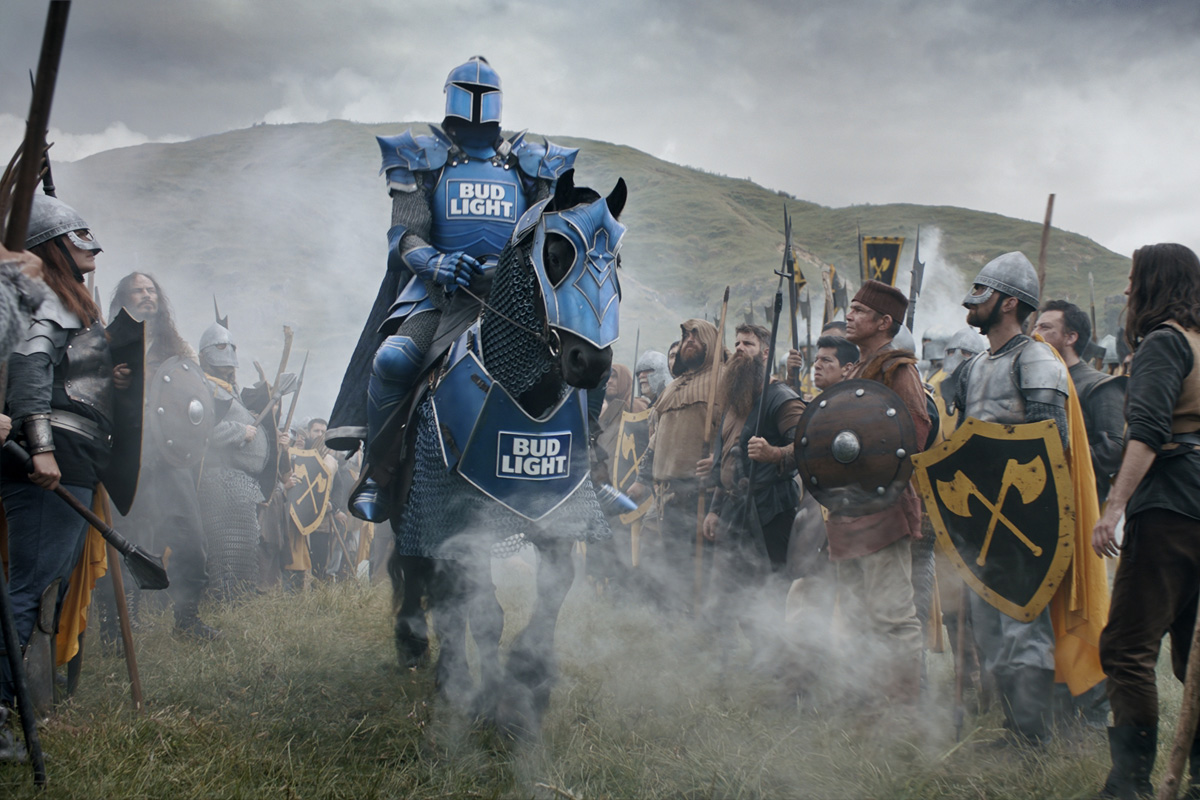 Bud Light releases their Bud Knight Super Bowl commercial