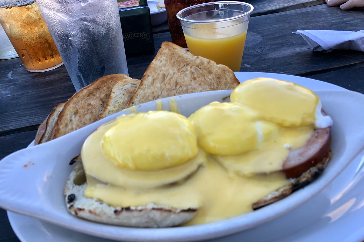 Eggs Benedict at Gulf Drive Cafe