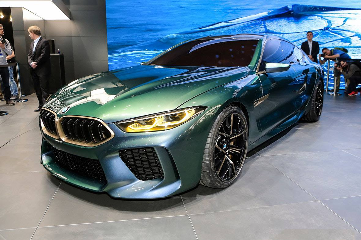 stunning bmw concept m8 gran coupe makes its debuts in geneva. Black Bedroom Furniture Sets. Home Design Ideas