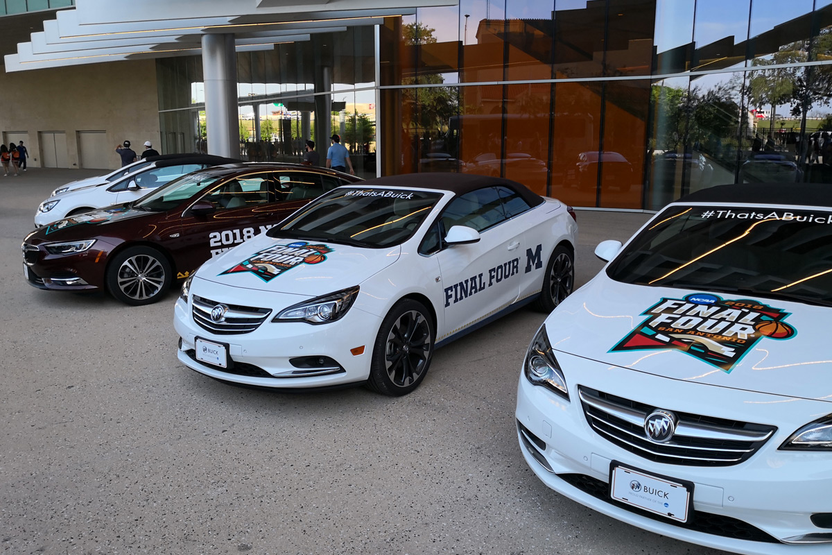 Buick line-up at the Final Four