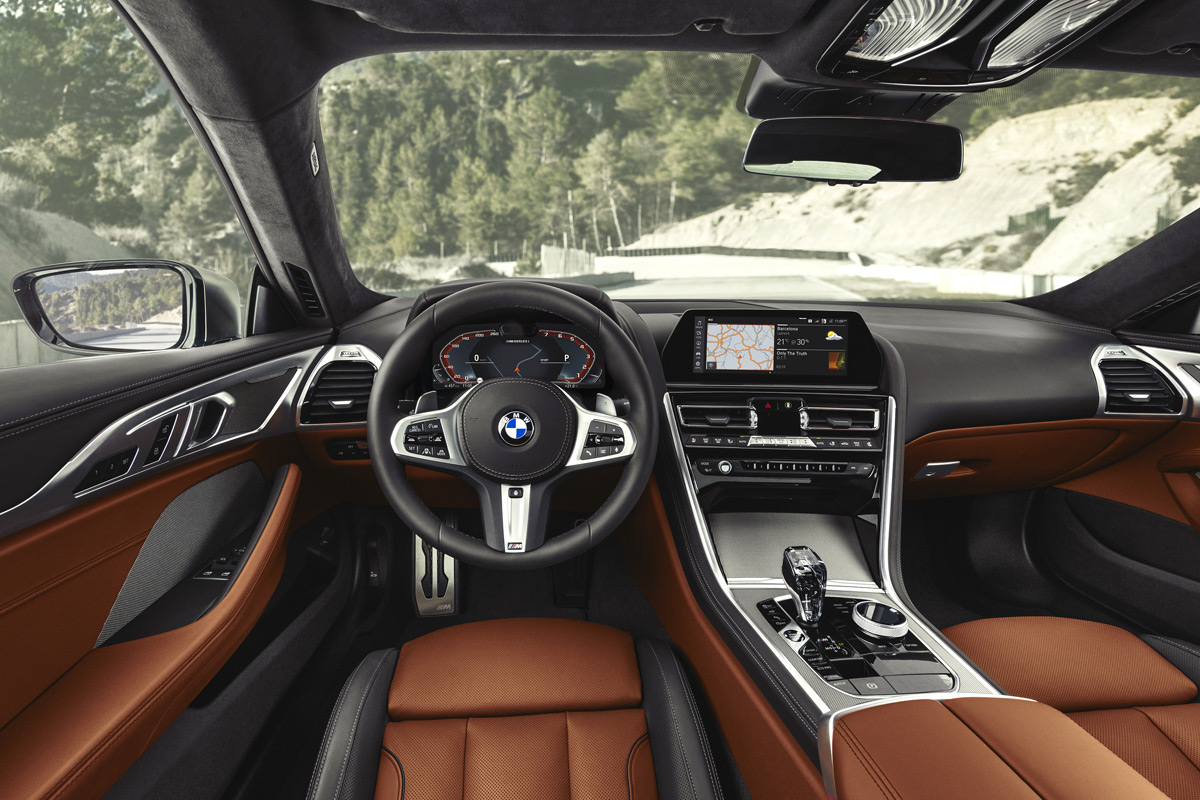 2019 BMW 8 Series Coupe interior
