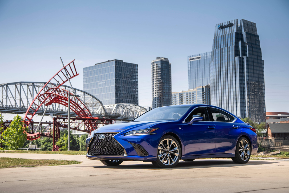 2019 Lexus ES 350 F Sport in Heat Blue