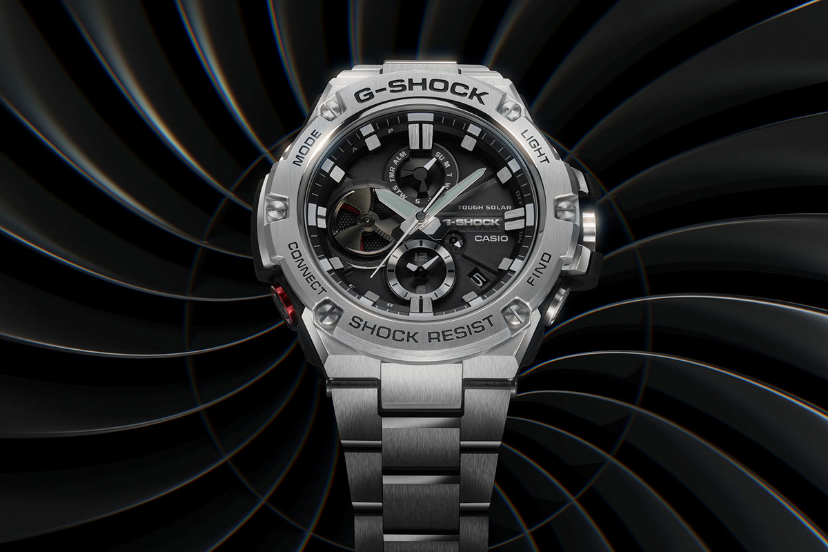 CASIO G-SHOCK G-STEEL GSTB100D-1