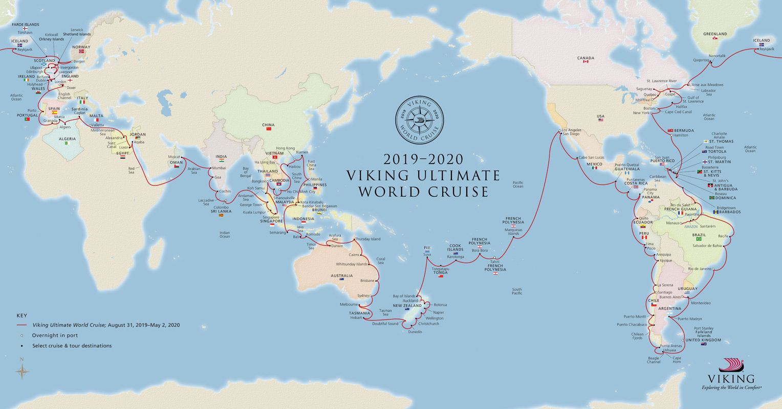 Viking Ultimate World Cruise - Cruise Map