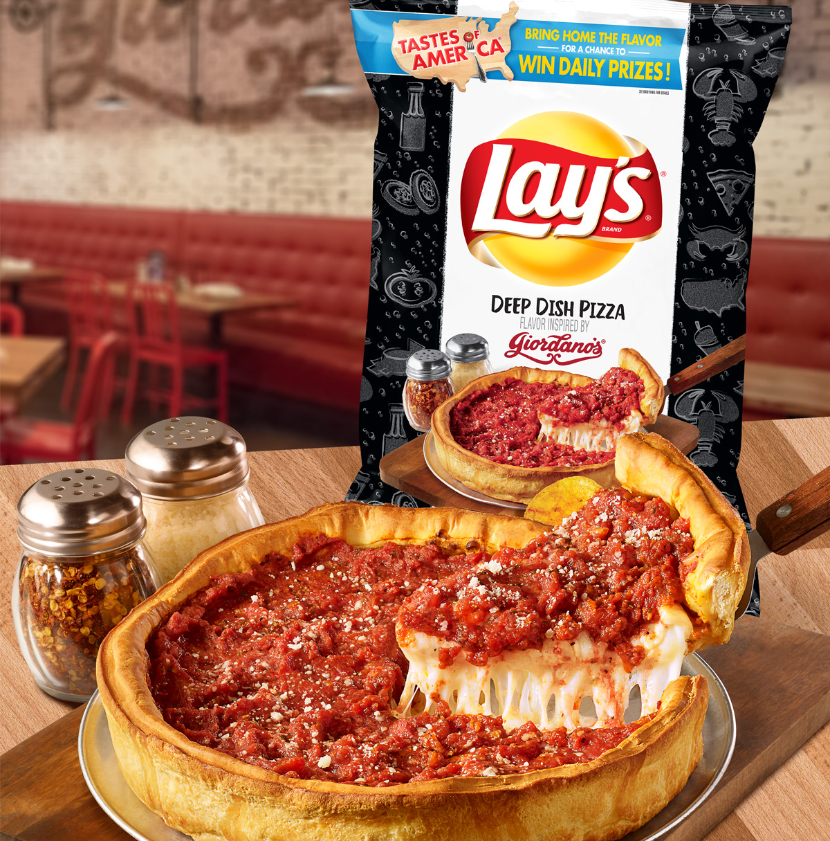 Lay's Deep Dish Pizza Potato Chips
