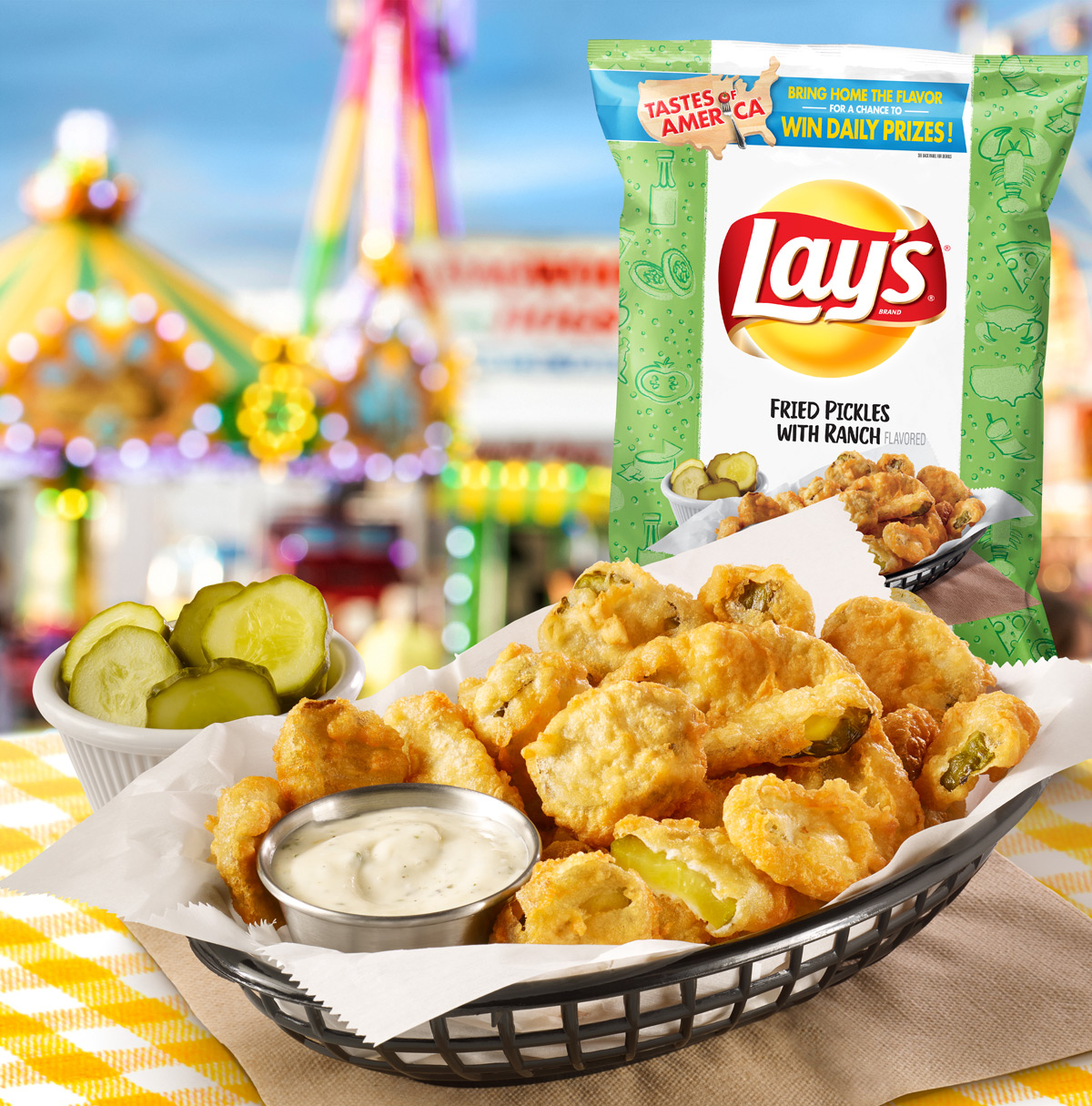 Lay's Fried Pickles with Ranch Potato Chips