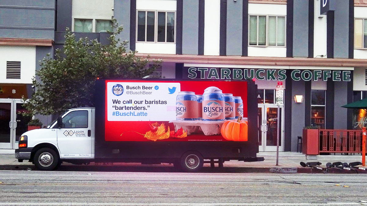 Busch Latte Billboard