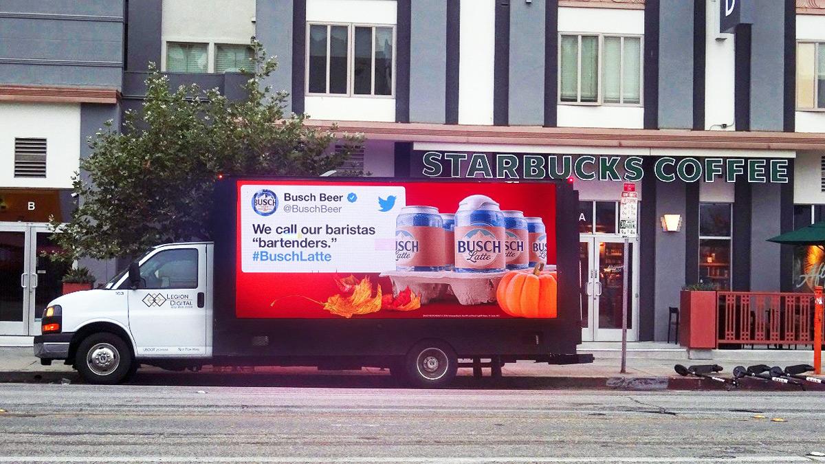 Busch Latte Billboard