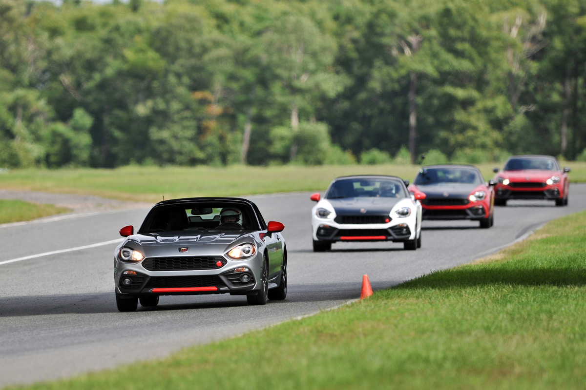 Fiat 124 Spider Abarths on Track