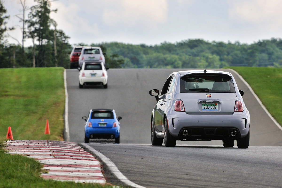 Fiat 500 Abarths on Track
