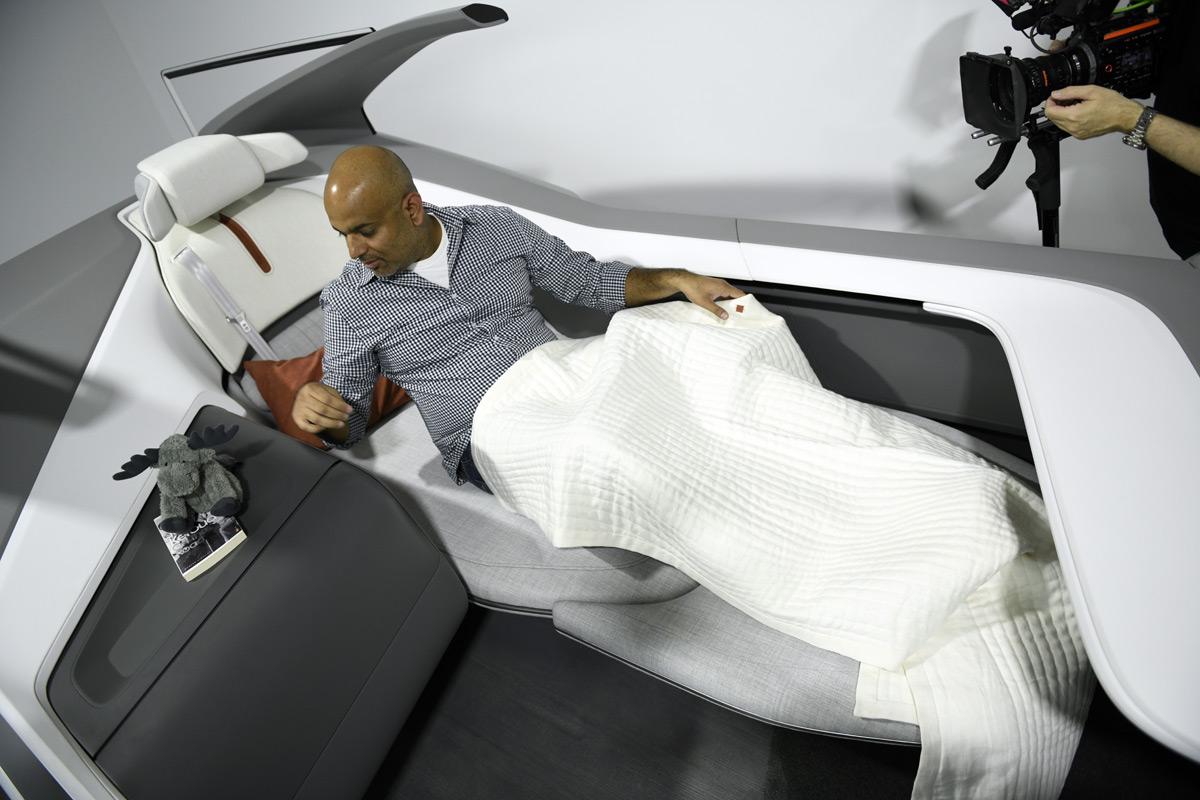 Sujeet Sleeping In The Volvo 360c