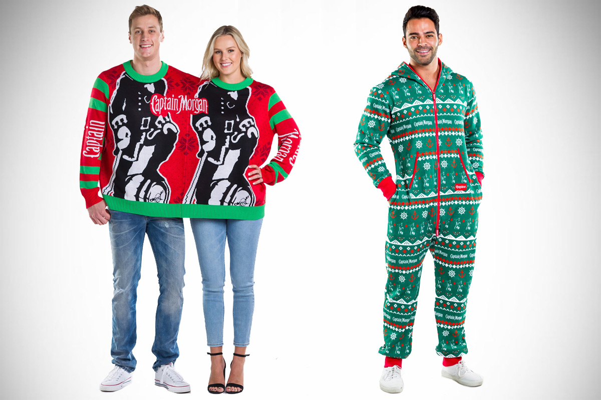 Captain Morgan Two-Person Sweater and Jumpsuit