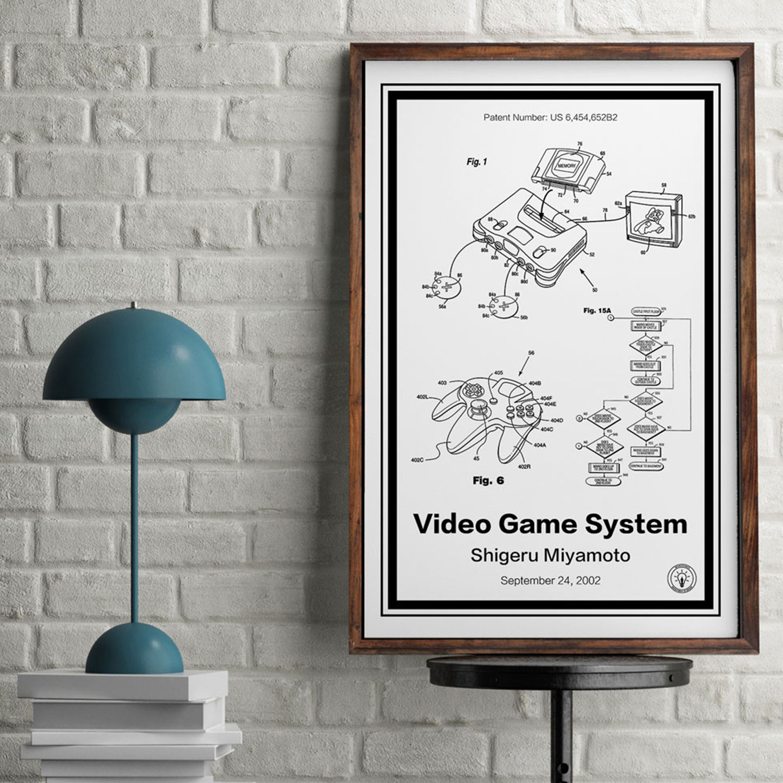 Retro Patents - Nintendo 64 Print