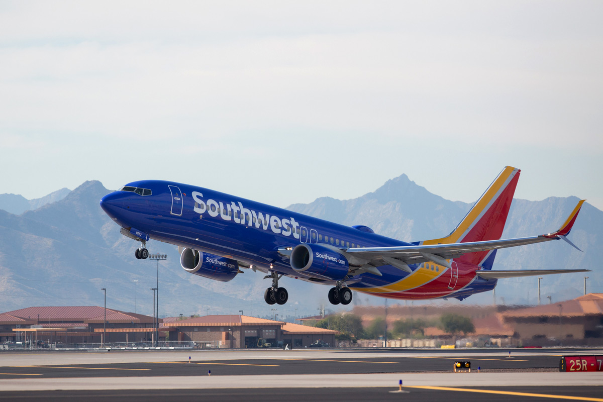 Southwest Airlines plane taking off